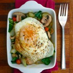 Mushroom Bok Choy Breakfast Stirfry ~ Sumptuous Spoonfuls #healthy #breakfast #recipe