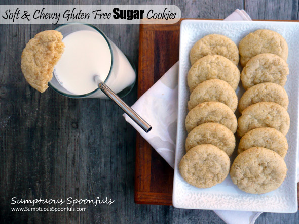 Soft & Chewy Gluten Free Sugar Cookies