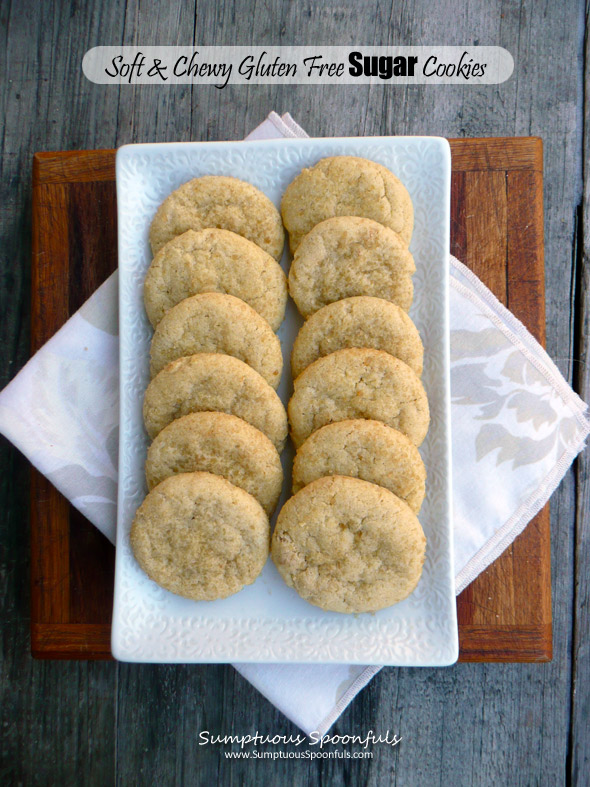 Soft & Chewy Gluten Free Sugar Cookies ~ each one is like a little pillow of sugar from Sumptuous Spoonfuls