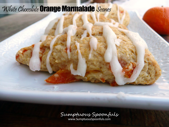 White Chocolate Orange Marmalade Scones