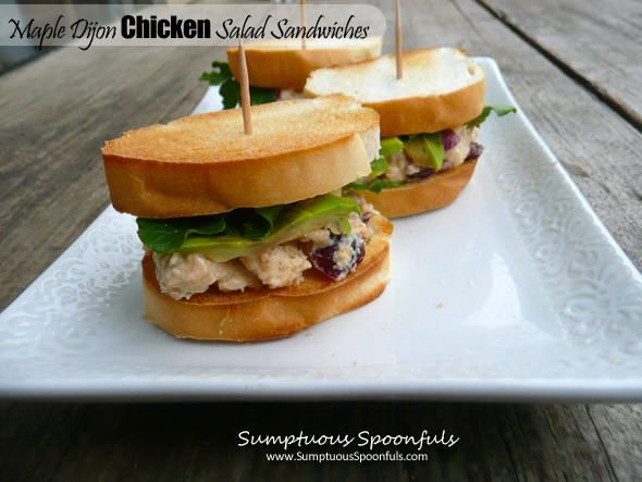 Maple Dijon Cranberry Chicken Salad Sandwich