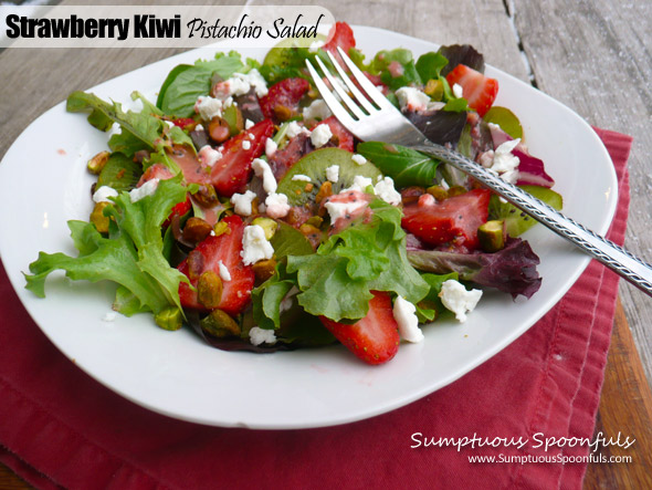 Strawberry Kiwi Pistachio Salad
