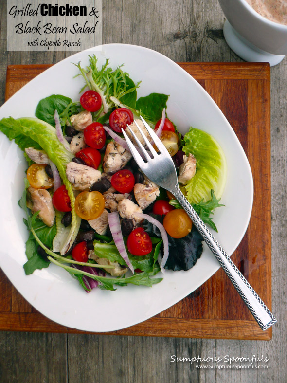 Grilled Chicken & Black Bean Salad with Chipotle Ranch