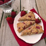 Strawberry Ginger Oat Scones ~ Sumptuous Spoonfuls #healthy #scone #recipe