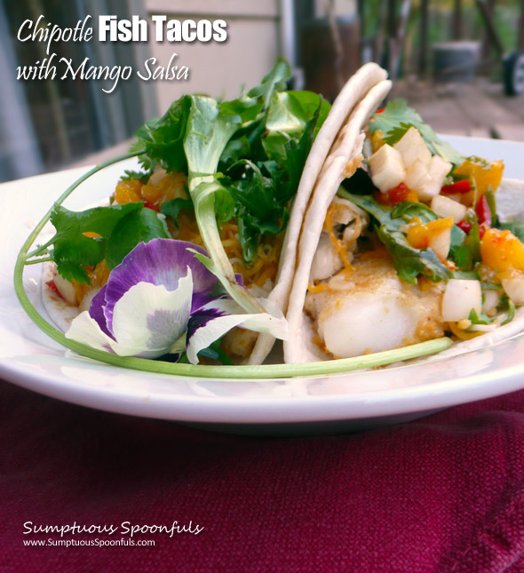 Chipotle Fish Tacos with Mango Salsa