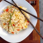 Kid Fried Rice ~ an easy, quick way to introduce your kids to Chinese food ~ Sumptuous Spoonfuls #kid-friendly #recipe