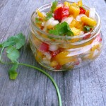 Mango Salsa ~ Sumptuous Spoonfuls #easy #fruit #salsa #recipe