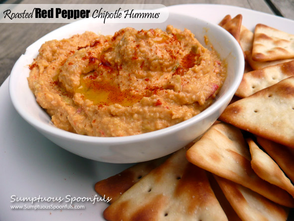 Roasted Red Pepper Chipotle Hummus
