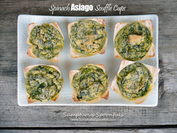 Spinach Asiago Souffle Cups