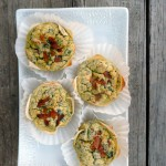 Bacon Sundried Tomato Souffle Cups ~ Sumptuous Spoonfuls #portable #souffle #breakfast #recipe