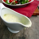 Pesto Parmesan Peppercorn Salad Dressing ~ Sumptuous Spoonfuls #homemade #healthy #salad #dressing #recipe