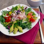 Turkey Avocado Salad with Herb Chipotle Ranch Dressing ~ Sumptuous Spoonfuls #dinner #salad #recipe