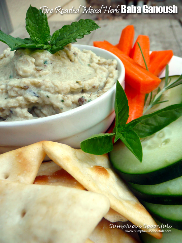 Fire Roasted Mixed Herb Baba Ghanoush