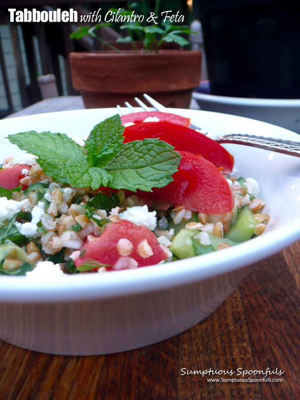 Tabbouleh with Cilantro and Feta
