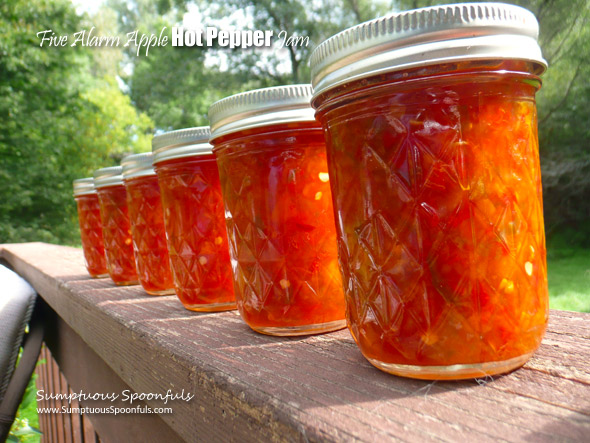 Five Alarm Apple Hot Pepper Jam