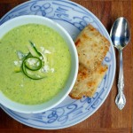 Zucchini Gorgonzola Soup ~ Sumptuous Spoonfuls #creamy #zucchini #gorgonzola #soup with no cream!