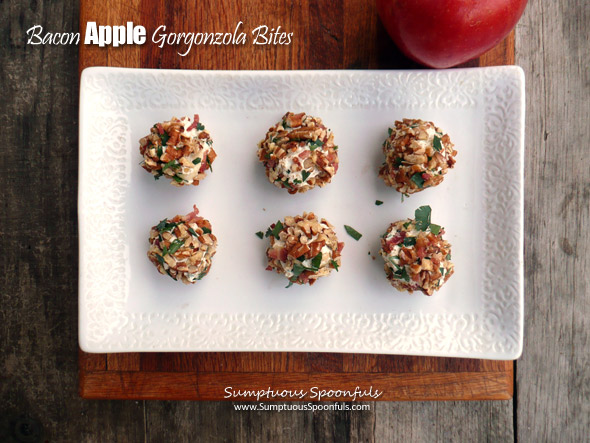Bacon Apple Gorgonzola Bites ~ Sumptuous Spoonfuls #holiday#appetizer #recipe