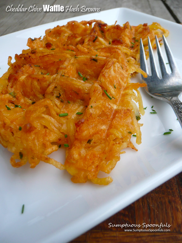 Cheddar Chive Waffle Hash Browns
