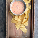 White Bean Queso Dip ~ Sumptuous Spoonfuls #mexican #bean & cheese #dip #recipe