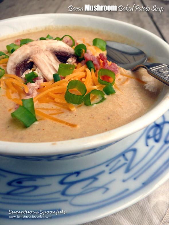 Bacon Mushroom Baked Potato Soup