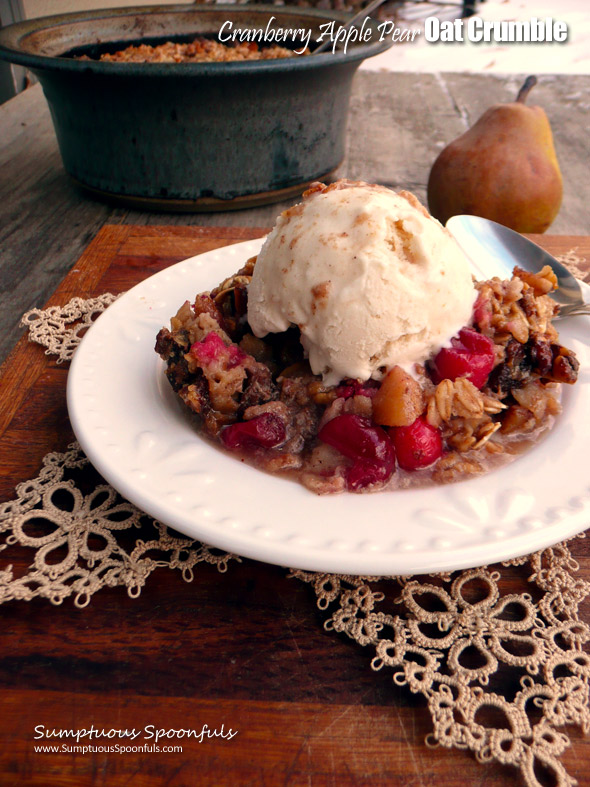 Cranberry Apple Pear Oat Crumble