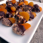 Dark Chocolate Dipped Toffee Apricots ~ Sumptuous Spoonfuls #healthy #dessert #recipe