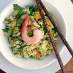 Cilantro Shrimp Fried Rice ~ Sumptuous Spoonfuls #quick #healthy #fusion #dinner #recipe