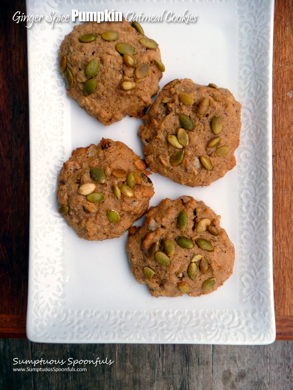 Ginger Spice Pumpkin Oatmeal Cookies