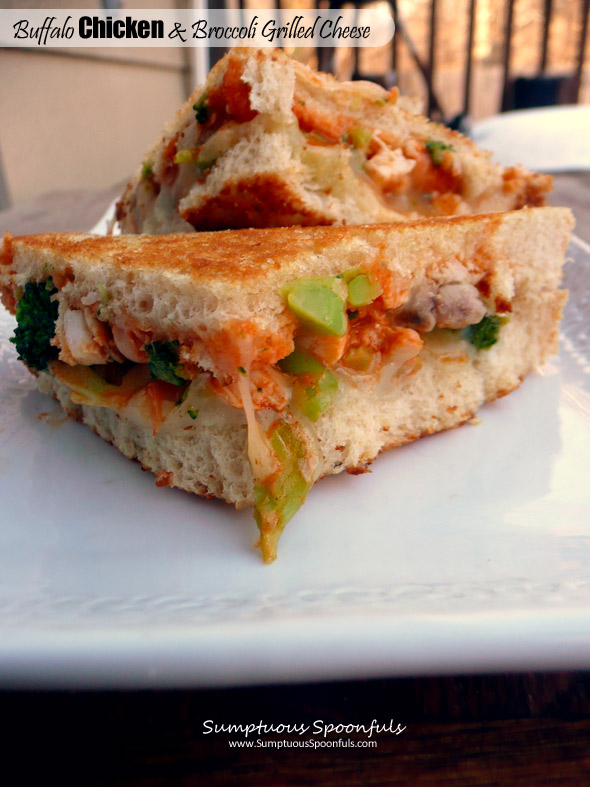 Buffalo Chicken & Broccoli Grilled Cheese