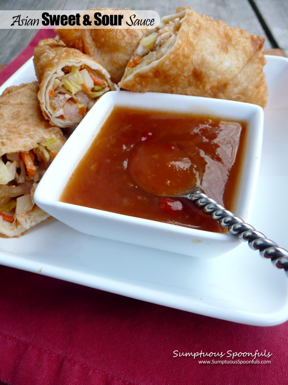 Asian Sweet & Sour Sauce ~ Sumptuous Spoonfuls #easy #Chinese #homemade #Sweet&Sour #sauce #recipe
