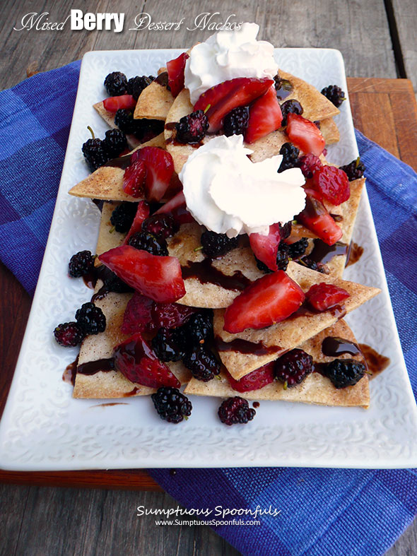 Mixed Berry Dessert Nachos