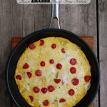 Bacon Zucchini Asiago Fresco Frittata and a Black Cube Frying Pan Product Review ~ Sumptuous Spoonfuls #egg #brunch #recipe & #productreview