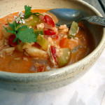 Brazilian Thai Fusion Fish Stew ~ Sumptuous Spoonfuls #zucchini #fusion #fish #stew #recipe
