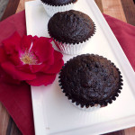 Triple Chocolate Zucchini Muffins ~ Sumptuous Spoonfuls #decadent #wholewheat #darkchocolate #muffins #zucchini