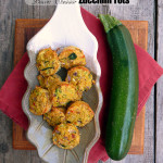 Bacon Cheddar Zucchini Tots ~ Sumptuous Spoonfuls #zucchini #sidedish #appetizer #snack #recipe