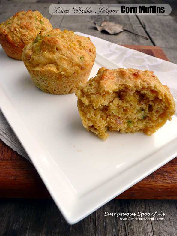 Bacon Cheddar Jalapeno Corn Muffins Sumptuous Spoonfuls