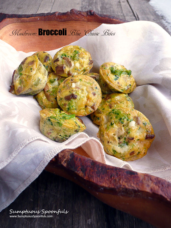 Mushroom Broccoli Blue Cheese Bites Sumptuous Spoonfuls