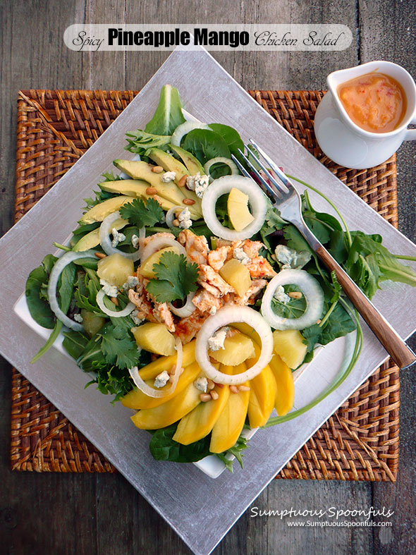 Spicy Pineapple Mango Chicken Salad