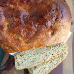 Irish Barmbrack Bread with tea-soaked raisins ~ Sumptuous Spoonfuls #wholewheat #irish #yeast #breadmachine #recipe
