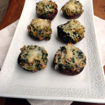 Spinach Quinoa Stuffed Mushrooms ~ Sumptuous Spoonfuls #healthy #stuffed #mushrooms #recipe