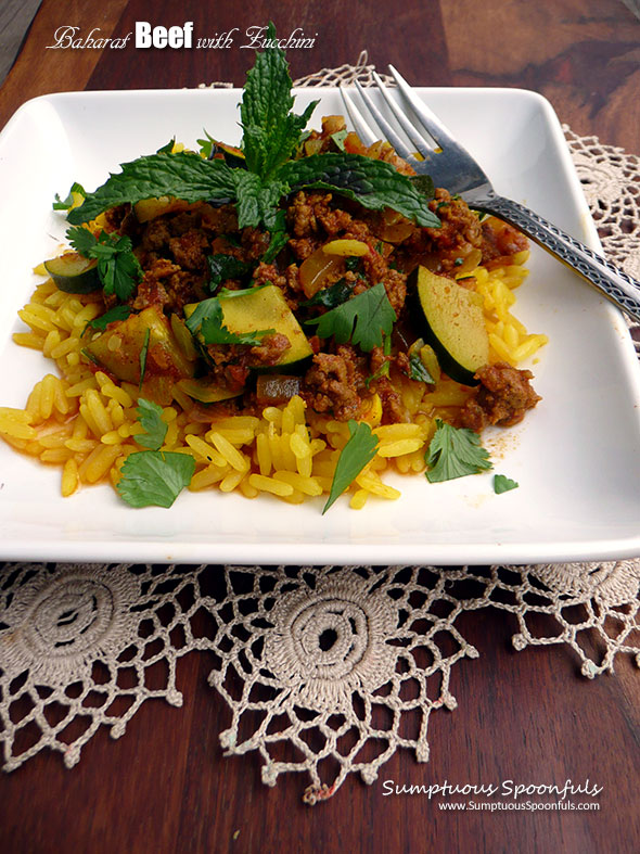 Baharat Beef with Zucchini