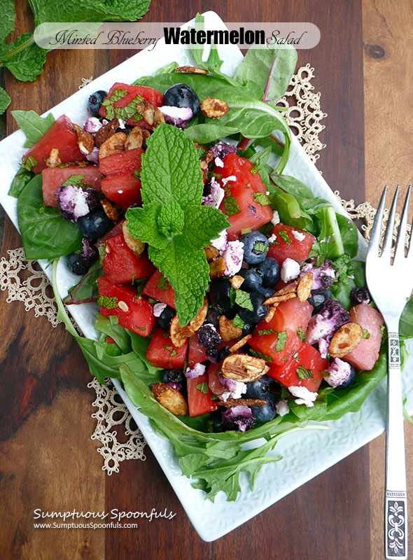 Minted Blueberry Watermelon Salad