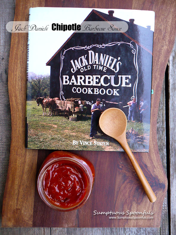 Jack Daniels Chipotle Barbecue Sauce ~ Sumptuous Spoonfuls #easy #homemade #bbq #sauce #recipe