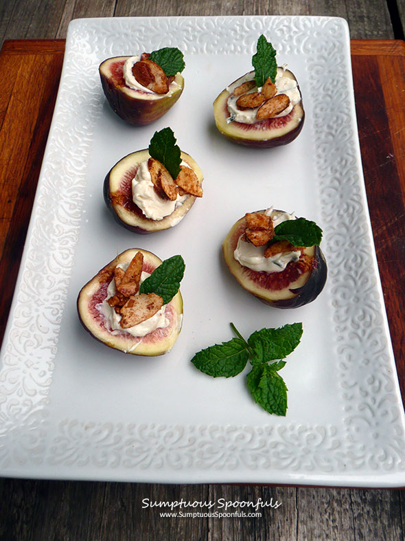 Lavender Cream Cheese Stuffed Figs