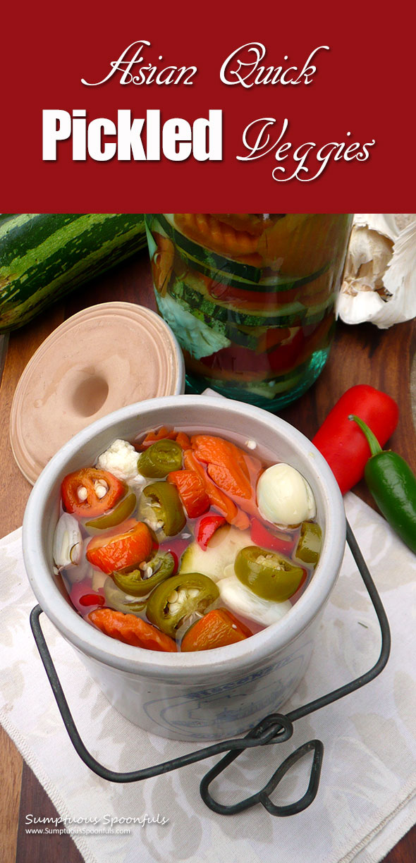 Asian Quick Pickled Veggies ~ Sumptuous Spoonfuls #easy #Asian #refrigerator #pickles #recipe