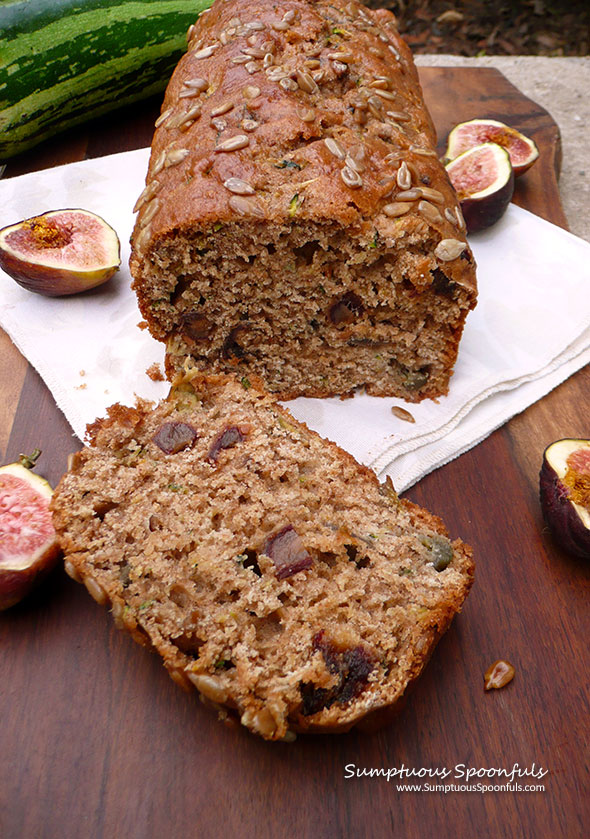 Sunflower Fig Zucchini Bread