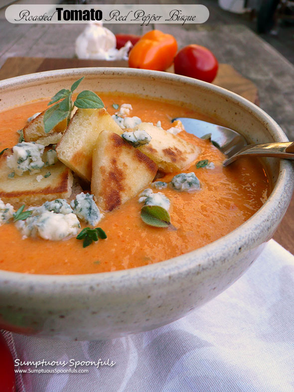 Roasted Tomato Red Pepper Bisque