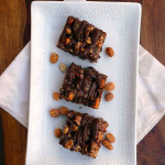 Toffee Chocolate Mashup Bars ~ Sumptuous Spoonfuls 7-Layer #chocolate #PB #7Layer #Bars