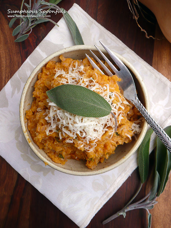 Baked Butternut Brown Rice Risotto