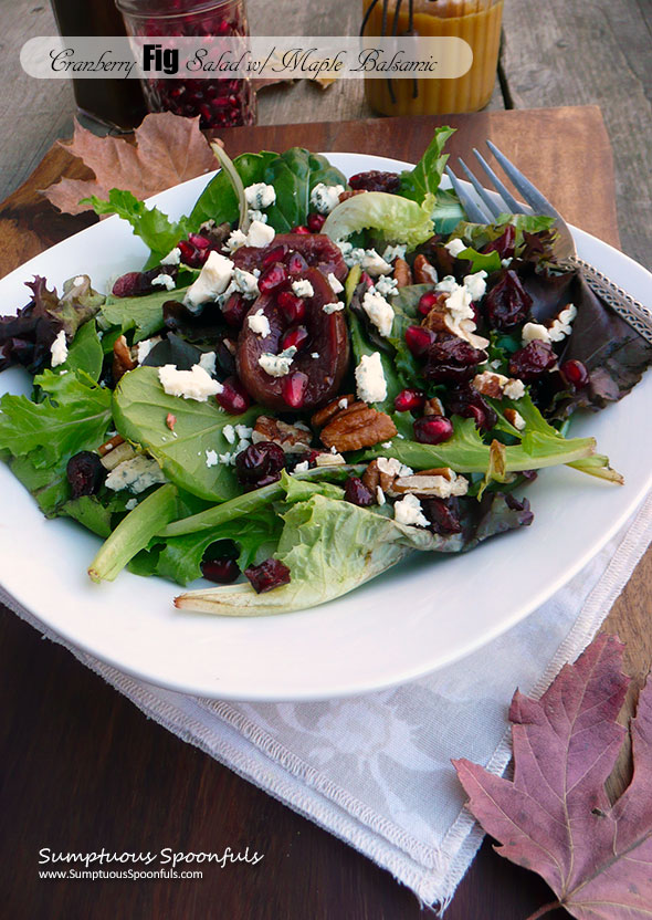 Cranberry Fig Salad with Maple Balsamic Vinaigrette